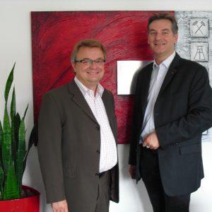 Jens Geier MdP mit dem stellvertretenden Vorsitzenden der SPD-Kreistagsfraktion Bodo Wißen