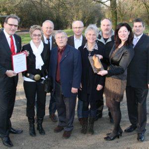 Beim Neujahrsempfang wurde der Uedemer Leisten 2012 an den Uedemer Stützpunkt Sportabzeichen übergeben.