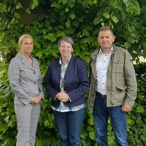 Barbara Hendricks mit Danielas und Michael Lesmsiter