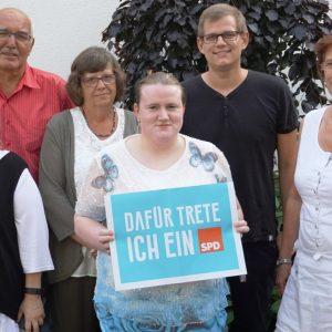 Der SPD-Vorstand in Uedem: v.l. Michaela Gebser, Jürgen Noth, Tosca Noth, Nicole Klimisch, Carsten Otto und Elke Hermans.