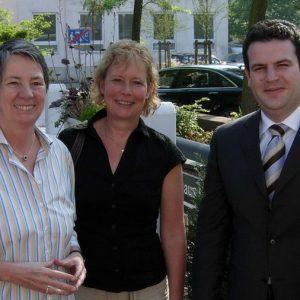 SPD-Generalsekretär Hubertus Heil mit Vorstandsmitgliedern der SPD Uedem