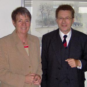 Barbara Hendricks und der Chef der Arbeitsagentur Wesel, Dr. Peter Glück