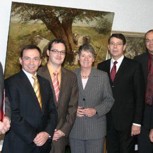 Staatssekretärin Barbara Hendricks mit Bankern aus dem Kreis Kleve