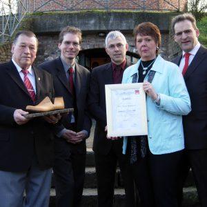 Elvira Kammann, Preisträgerin des Uedemer Leisten 2008 mit SPD-Vertretern