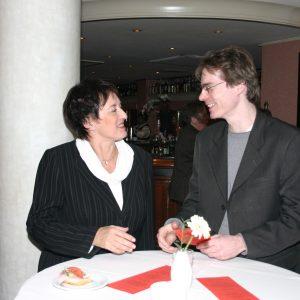 Uedems SPD-Chef laf Plotke mit Justizministerin Brigitte Zypries
