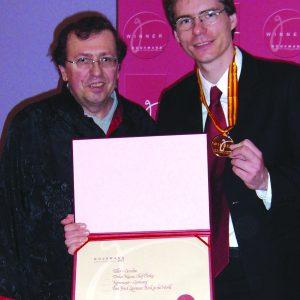SPD-Chef Olaf Plotke und Gourmand-Präsident Edouard Cointreau