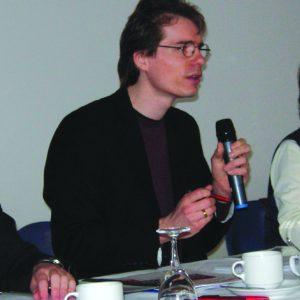 Olaf Plotke im Parteitagspräsidium