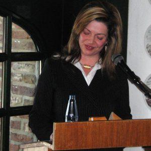 Bürgermeisterkandidatin Kathrin Plotke hielt die Laudatio auf Maria van Afferden