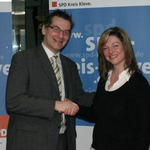 Bürgermeisterkandidatin Kathrin Plotke mit dem SPD-Landratskandidaten Bodo Wißen MdL