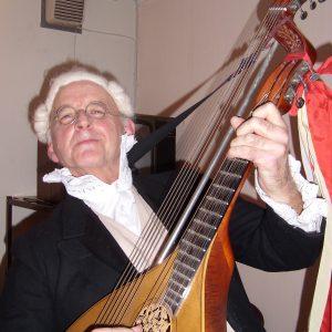 Leif Olsson als Schwedens Nationaldichter Bellman unterhielt die Gäste aus Uedem.