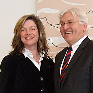 Kandidaten-Treffen: Bürgermeisterkandidatin Kathrin Plotke traf den SPD-Kanzlerkandidaten und Außenminister Frank-Walter Steinmeier in Berlin.