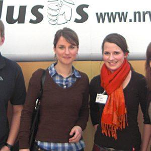 Jusos unter sich: Die Uedemer Jusos mit der Bundesvorsitzenden Franziska Dröhsel.