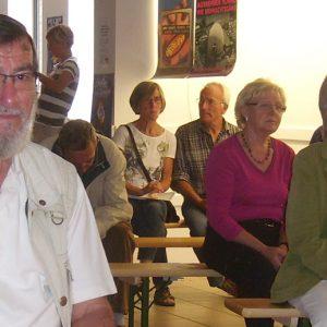 Das Publikum hörte 7 tolle Lesungen im ehemaligen Spar-Markt in Uedem.