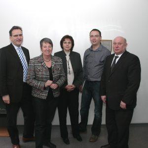 Barbara Hendricks und Jörg Lorenz mit der Chefetage der Fa. Mühlhoff