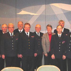 Barbara Hendricks mit den Spitzen der Feuerwehren  im Kreis Kleve